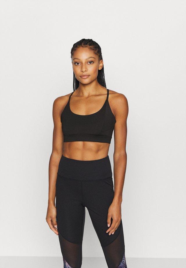 STRAPPY TWIST BRALET - Sports bra - black