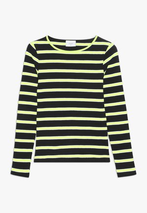 ANIKA TEE - Long sleeved top - black/neon green