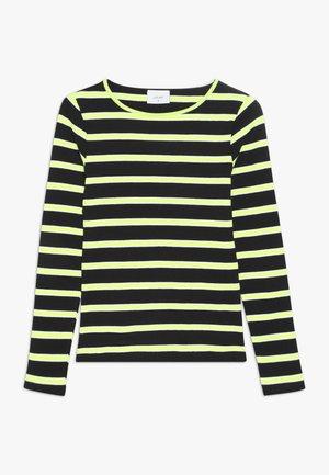 ANIKA TEE - Top sdlouhým rukávem - black/neon green