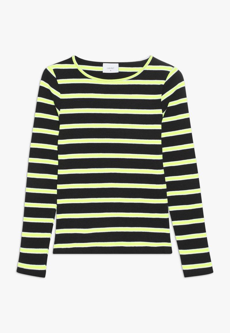 Grunt - ANIKA TEE - Longsleeve - black/neon green