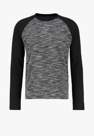Long sleeved top - mottled grey black