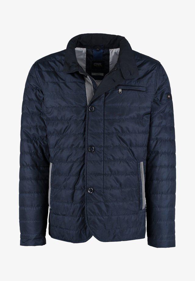 MIT REISSVERSCHLUSS UND KNOPFLEISTE - Light jacket - dark blue
