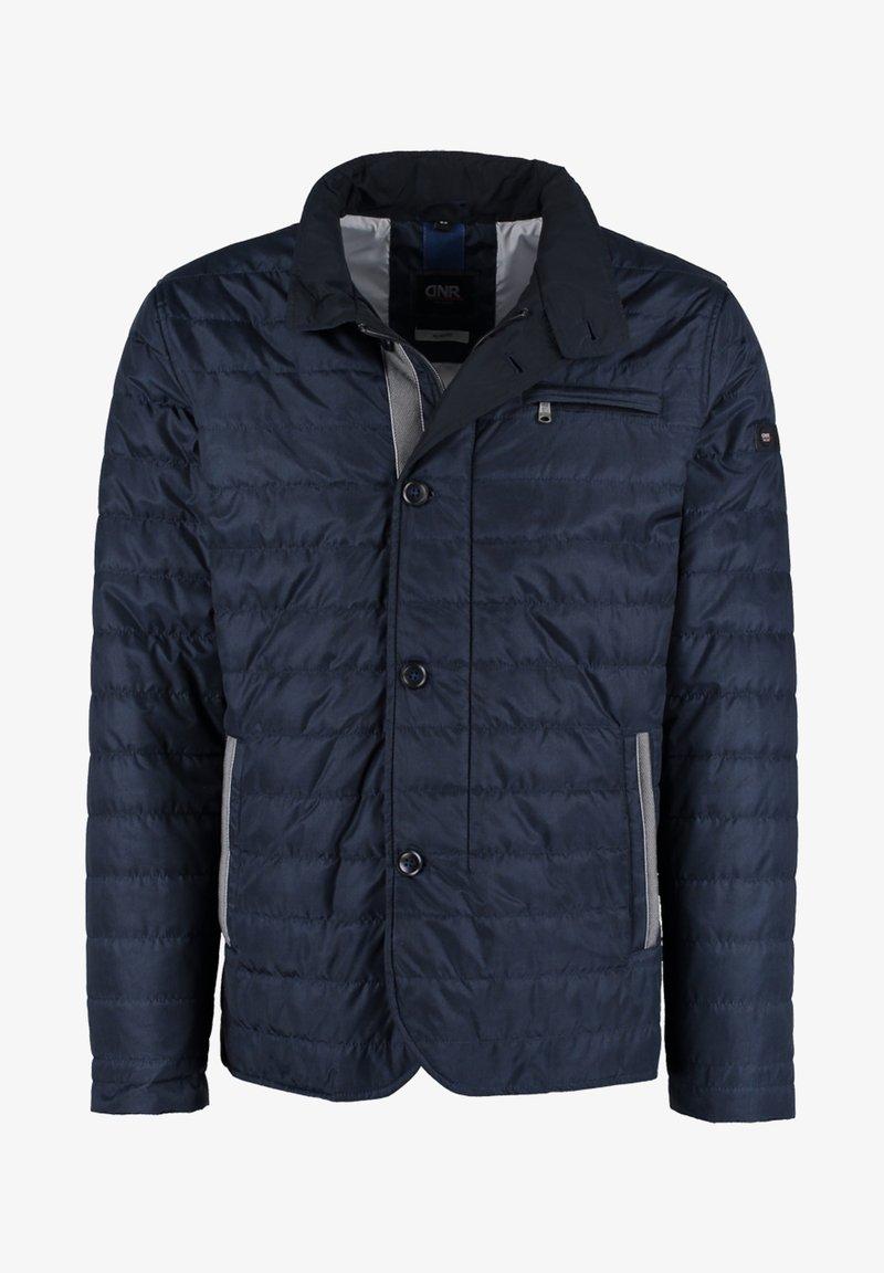 DNR Jackets - MIT REISSVERSCHLUSS UND KNOPFLEISTE - Light jacket - dark blue