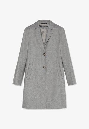 SINGLE BREASTED WELT POCKETS - Classic coat - middle stone melange