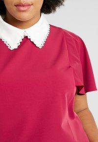 Fashion Union Plus - COLLARED BLOUSE - Bluse - solid bordeaux - 5