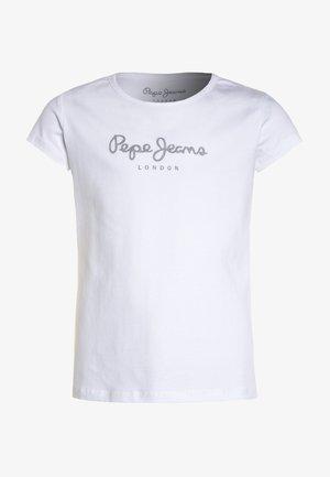 HANA GLITTER - Print T-shirt - white
