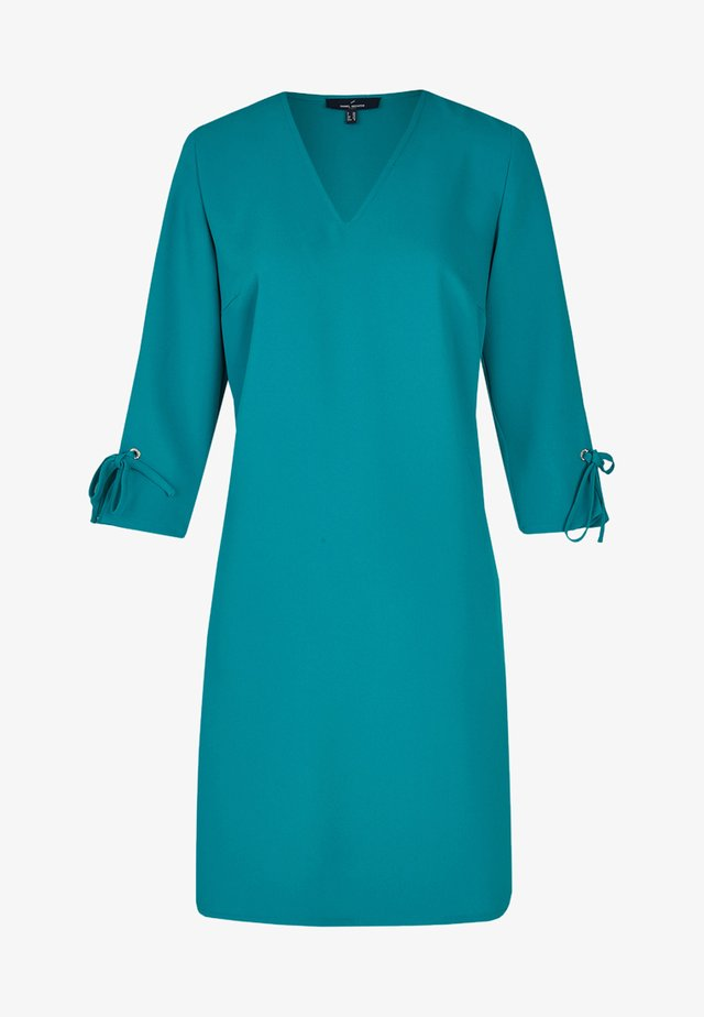 MIT SCHLEIFENDETAILS AM ÄRMELBUND - Day dress - blue