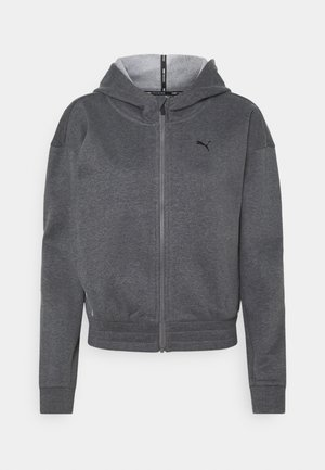 TRAIN FAVORITE FULL ZIP - Felpa aperta - charcoal heather
