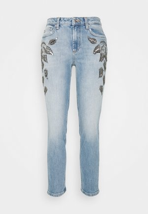 CUTE  - Džíny Slim Fit - denim blue leaf