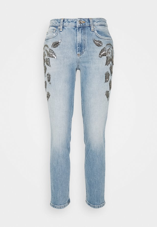 CUTE  - Jeans slim fit - denim blue leaf