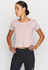 ASICS - RACE CROP - Camiseta estampada - ginger peach - 0
