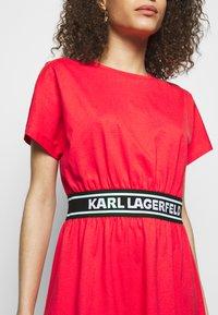 KARL LAGERFELD - LOGO TAPE DRESS - Sukienka z dżerseju - tangerine - 4