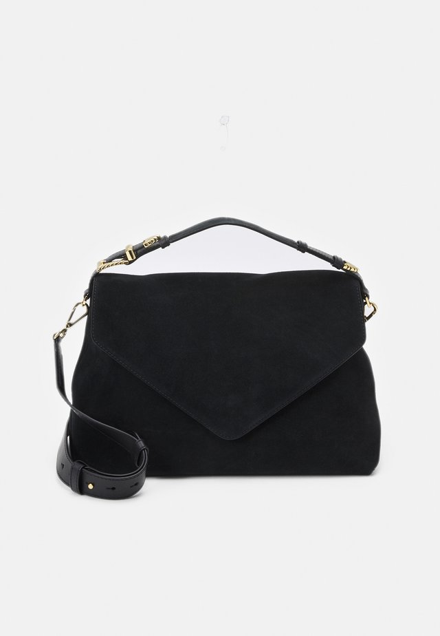 SHOULDER BAG MED FLAP - Handbag - black