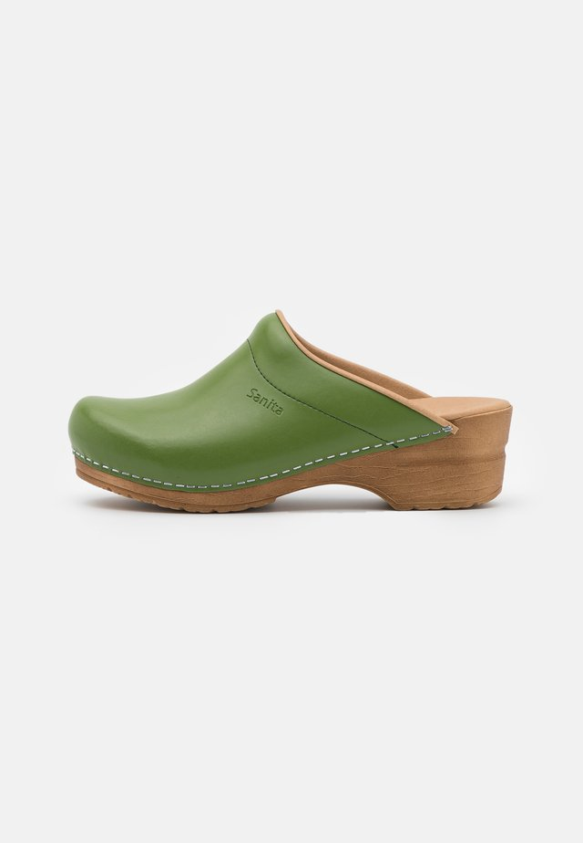 ORIGINAL SANDRA OPEN - Clogs - green