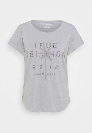BOXY CREW NECK PALM TREE - Print T-shirt - frost