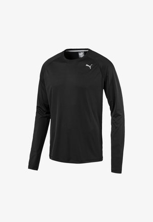 CORE RUN MEN'S LONG SLEEVE RUNNING MAN - Sports shirt - black