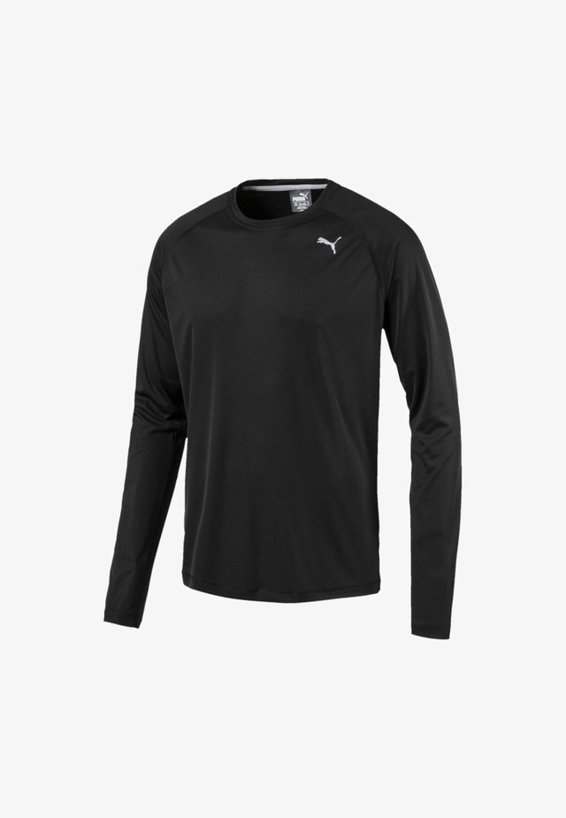 CORE RUN MEN'S LONG SLEEVE RUNNING MAN - Tekninen urheilupaita - black