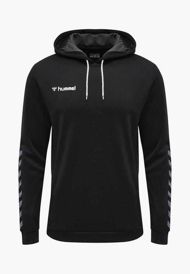 HMLAUTHENTIC - Bluza z kapturem - black/white