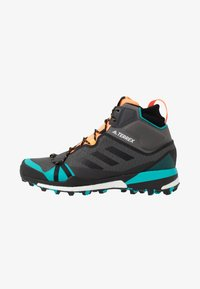 adidas Performance - TERREX SKYCHASER MID GTX - Walking boots - grey four/core black/hi-res aqua - 0