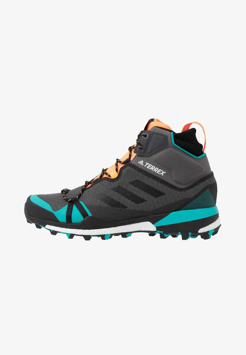 adidas Performance - TERREX SKYCHASER MID GTX - Walking boots - grey four/core black/hi-res aqua