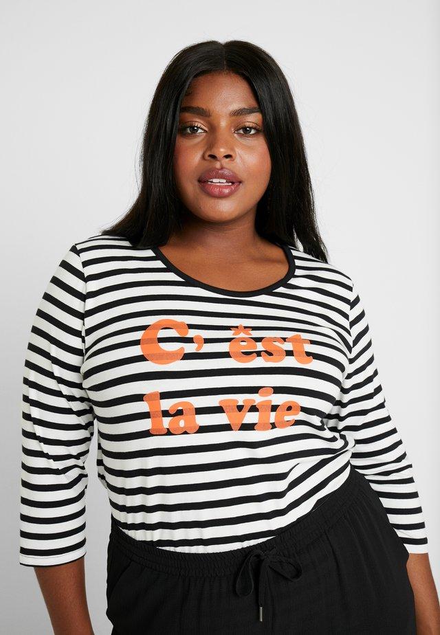 C'EST LA VIE STRIPE TEE - T-shirt à manches longues - black
