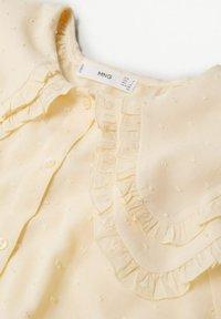 Mango - Button-down blouse - geel - 7