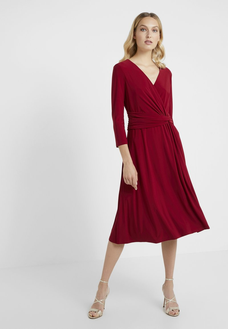 Lauren Ralph Lauren - ZANAHARY - Jersey dress - vibrant garnet