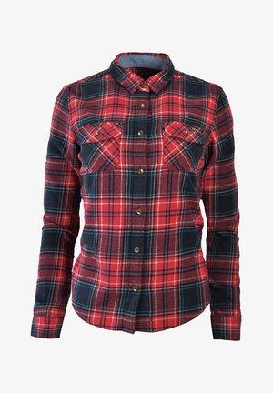 Button-down blouse - kilburn check red