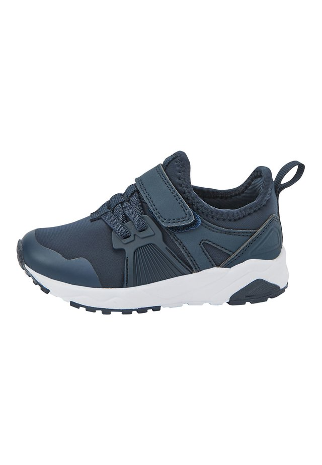 NAVY ELASTIC LACE TRAINERS (OLDER) - Trainers - blue