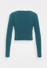 BDG Urban Outfitters - NOORI TIE FRONT CARDI - Vest - dark teal - 1