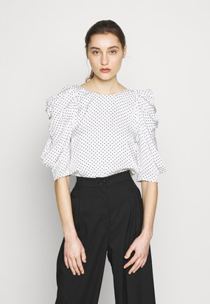 CHARLOTTE BLOUSE - Bluser - white/black