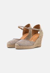 Unisa - CASTILLA - Platform sandals - taupe - 2