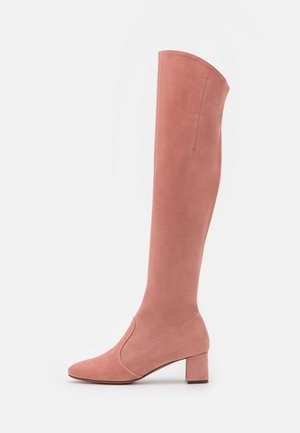 ZIP BOOT - Kozačky nad kolena - ancient pink