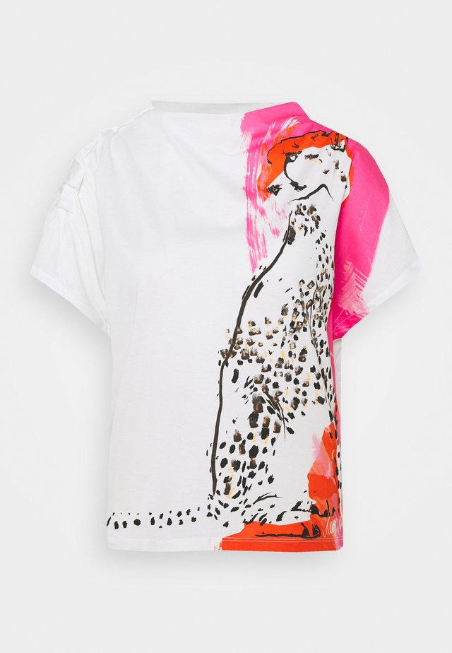 T-shirt print - shocking pink