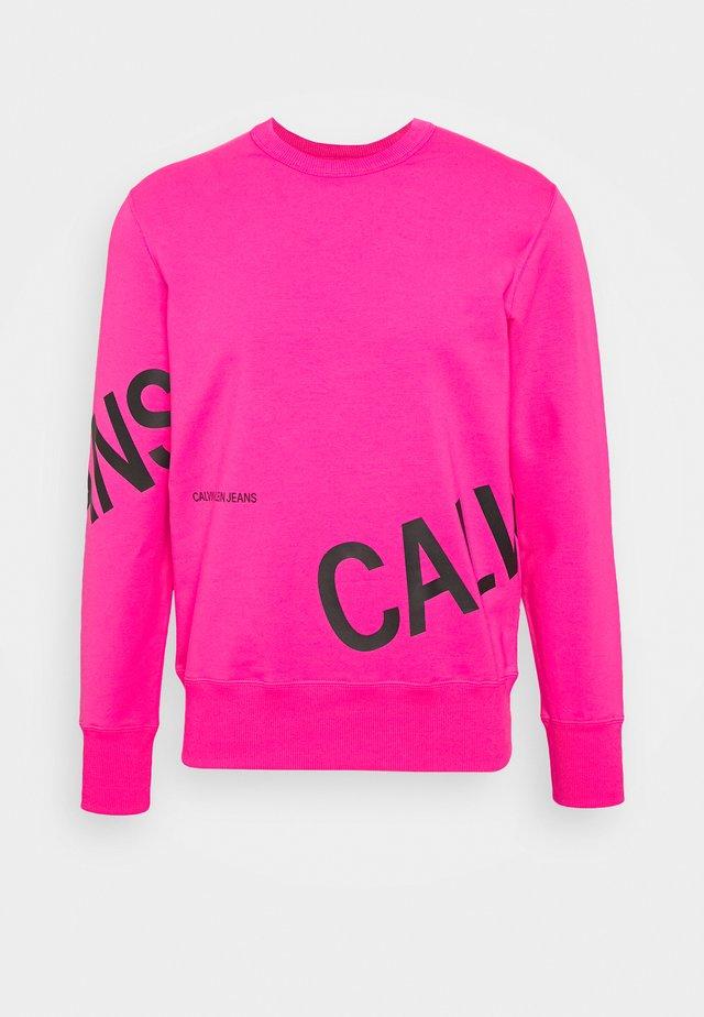 STRETCH LOGO CREW NECK - Sweatshirt - party pink