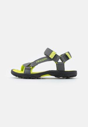 UNISEX - Walking sandals - grey/lime