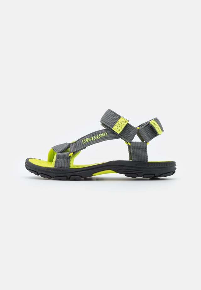 UNISEX - Sandali da trekking - grey/lime