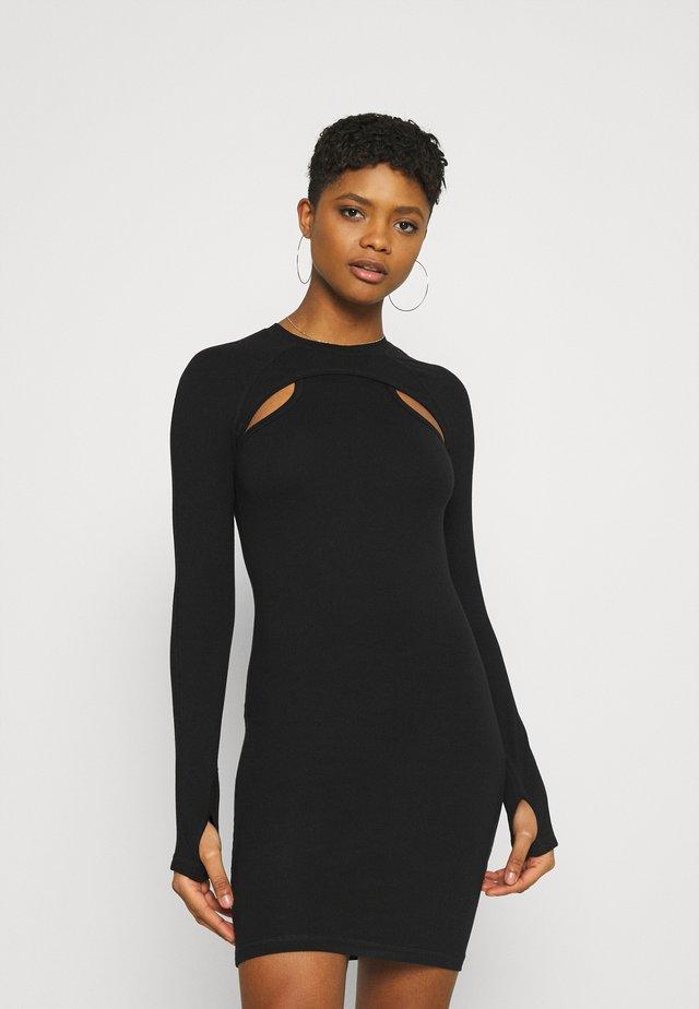 SHIRIN - Jersey dress - black