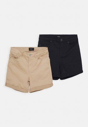 VMHOT SEVEN MR  FOLD 2 PACK - Denim shorts - tan/night sky