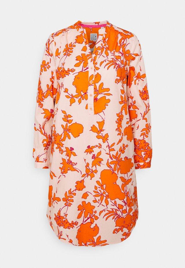 Korte jurk - orange/rose