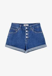 PULL&BEAR - MIT KNÖPFEN VORNE - Denim shorts - dark blue - 5