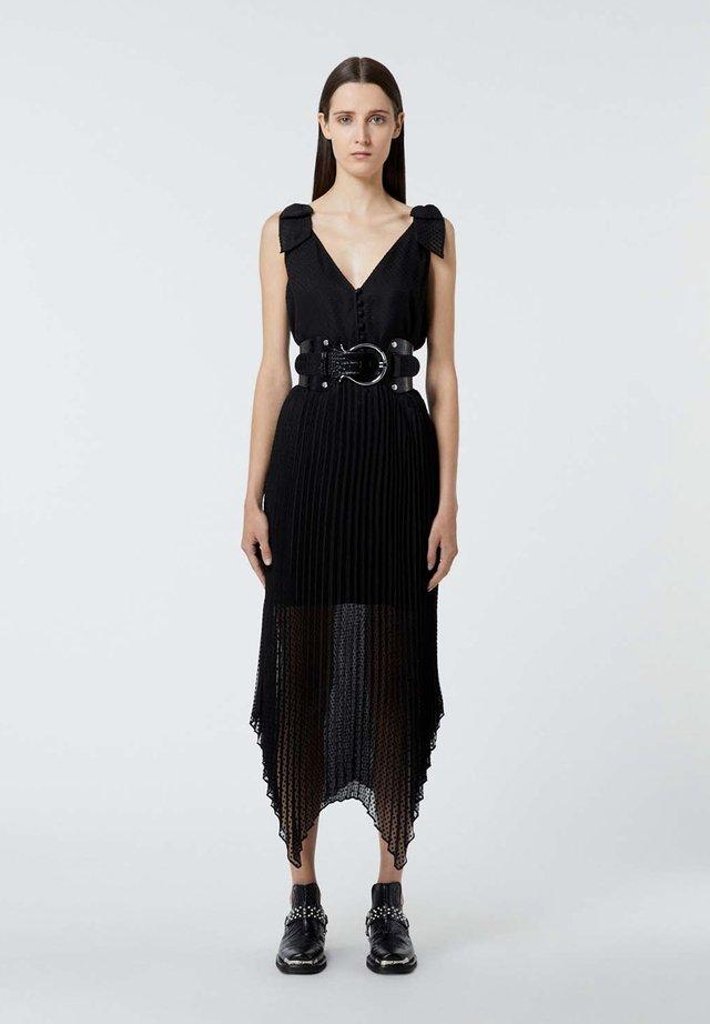 PLISSÉE À BRETELLES - Sukienka letnia - black