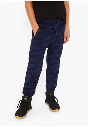 Tracksuit bottoms - dark blue aop