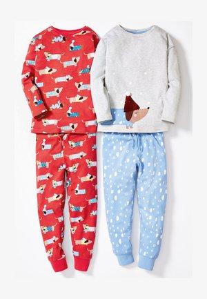 2 PACK SAUSAGE DOG SNUGGLE  - Pyjama set - red