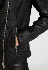 YAS - YASPAULINA NAPLON JACKET - Leather jacket - black - 5