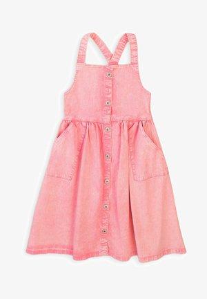 Denimové šaty - light pink