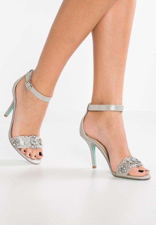GINA - High heeled sandals - silver