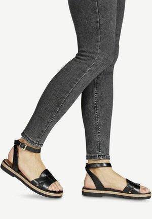 Sandals - black plain