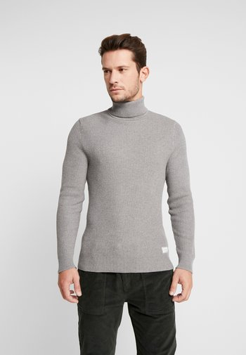 Stickad tröja - mottled grey
