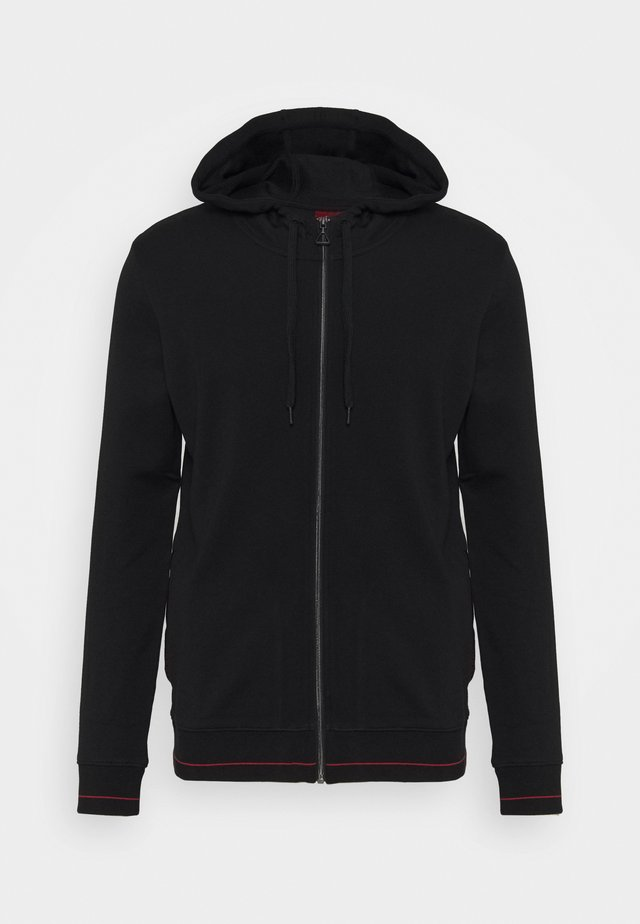DAPLE - Zip-up hoodie - black